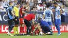 Milic en el encuentro ante el Málaga cuando sufrió la lesión