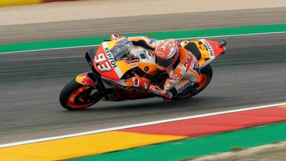 Marc Márquez ganó en Aragón y acaricia un nuevo título del MotoGP