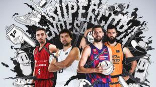 Cartel presentador de la Supercopa Acb Endesa de Baloncesto 2019