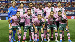 Once del Betis ante Osasuna