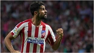 Diego Costa durante un partido esta temporada