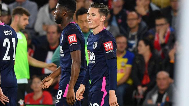 Wilson, feliz tras su gol al Southampton.