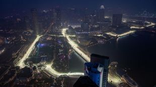 Vista aérea del trazado de Marina Bay.