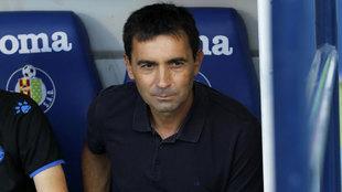 El técnico del Alavés, Asier Garitano, en el partido frente al...