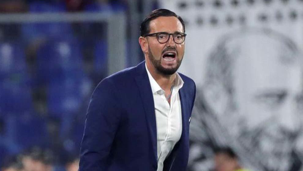 José Bordalás en el encuentro de Europa League ante el Trabzonspor