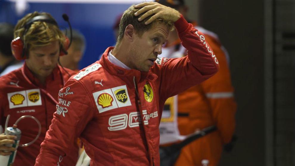 Vettel, tras lograr el tercer puesto en la parrilla de Singapur.