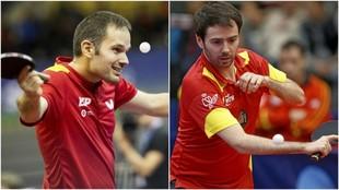Jordi Morales y Álvaro Varela, en competición.