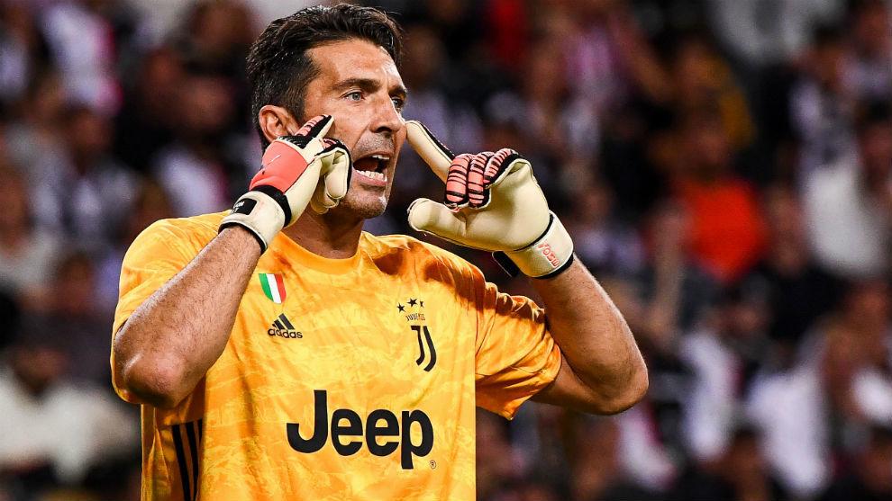 Gianluigi Buffon (41), en un partido de pretemporada con la Juventus.