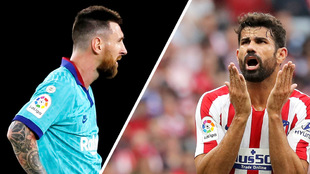 Messi y Diego Costa, en lamento