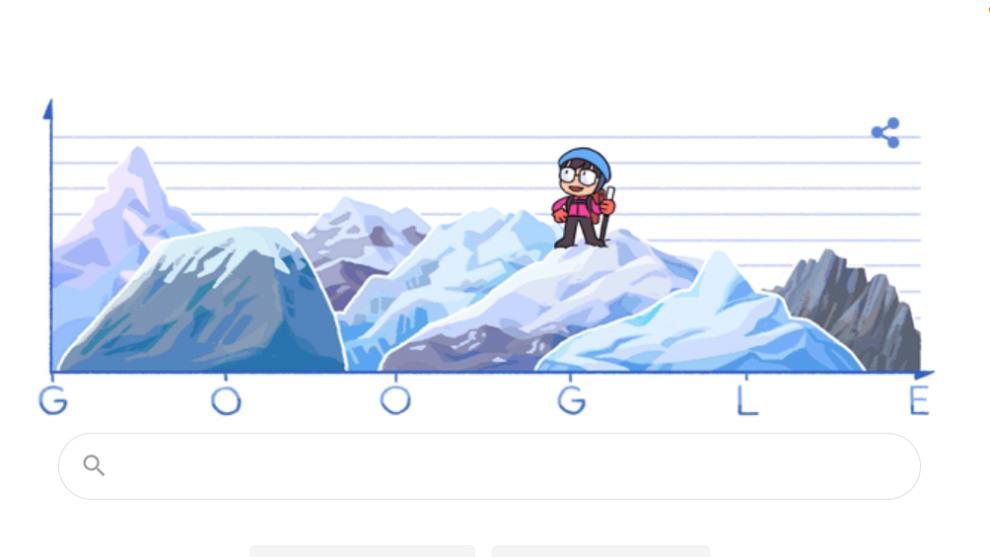 El doodle de Google que homenajea a Junko Tabei