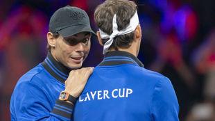 Nadal habla con Federer