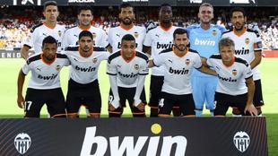 Equipo inicial del Valencia contra el Leganés.
