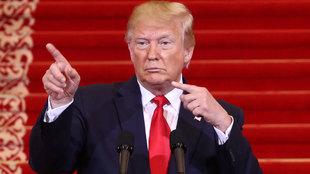 Donald Trump en un acto en China