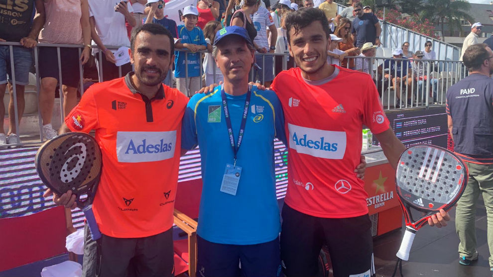 Pablo Lima y Ale Galán tras clasificarse para la final en Cascais.