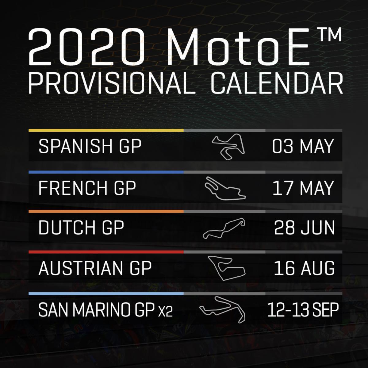 Motogp 2019 Oficial Anunciado El Calendario Provisional De Motoe Para 2020 Marca Com