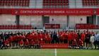 El Atlético femenino y masculino con Enrique Cerezo, Gil Marín, el...