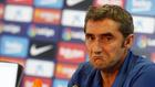 Ernesto Valverde, en una rueda de prensa