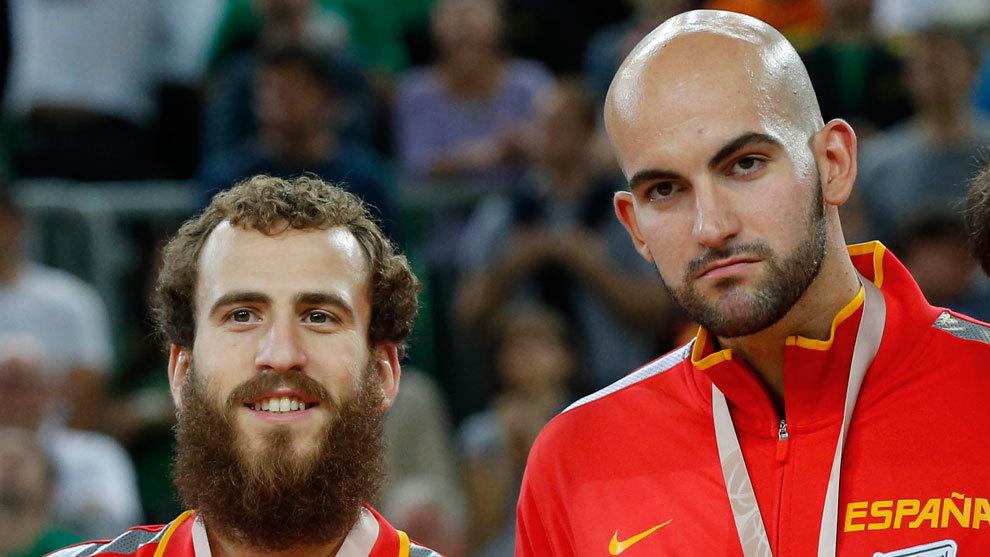 Xavi Rey y Sergio Rodríguez con el bronce logrado en el Europeo de...