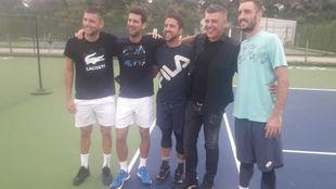 Krajinovic, Djokovic, Tipsarevic, Milosevic y Troicki
