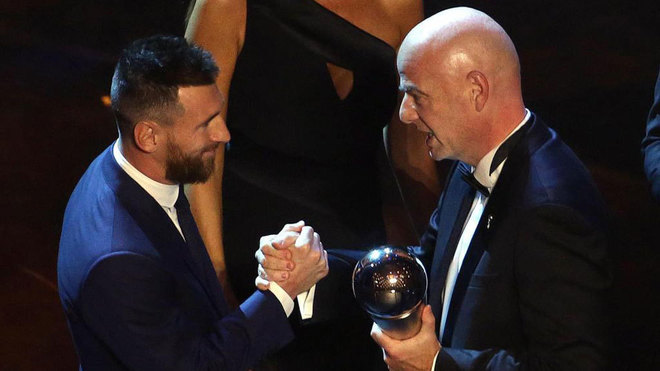 Messi wins best Federation Internationale de Football Association player of the year for record sixth time