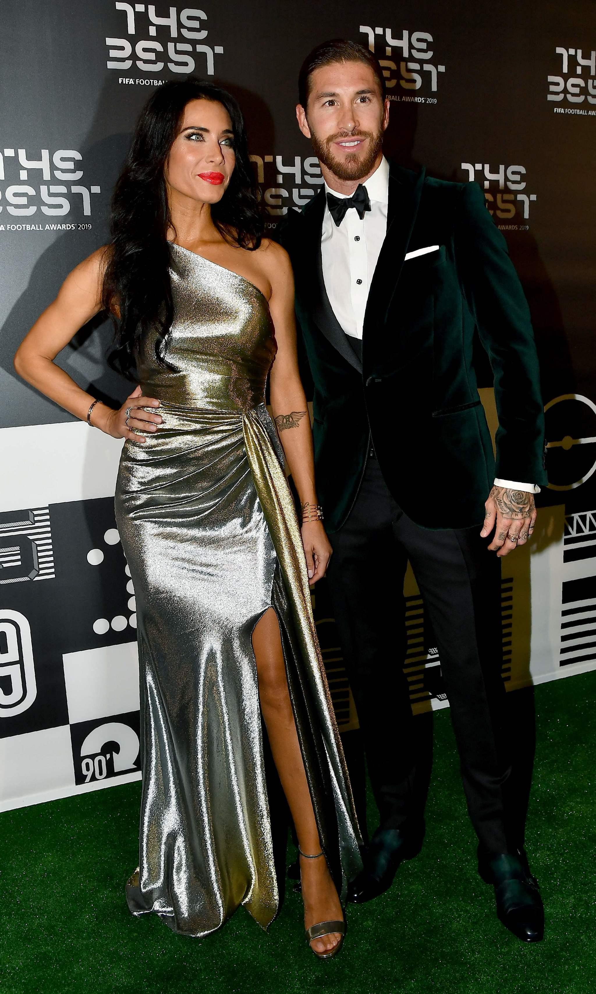 El estilismo de Pilar Rubio y Sergio Ramosen la gala de 'The Best FIFA...