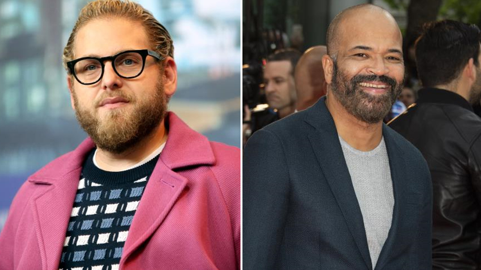 Los actores Jonah Hill y Jeffrey Wright