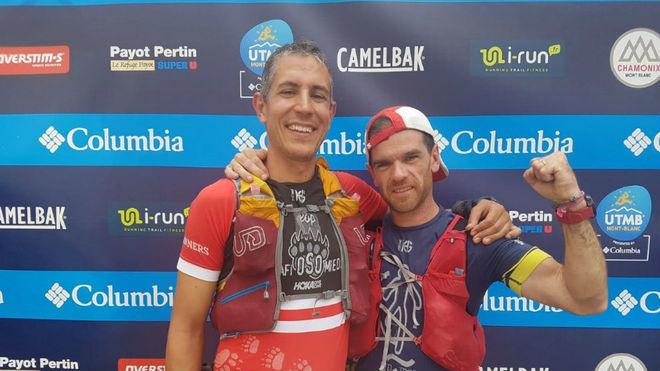 Jorge García y Jesús González, tras acabar el UTMB.