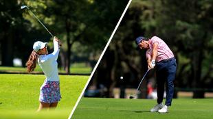 María Fassi y Abraham Ancer en torneos de golf celebrados en México