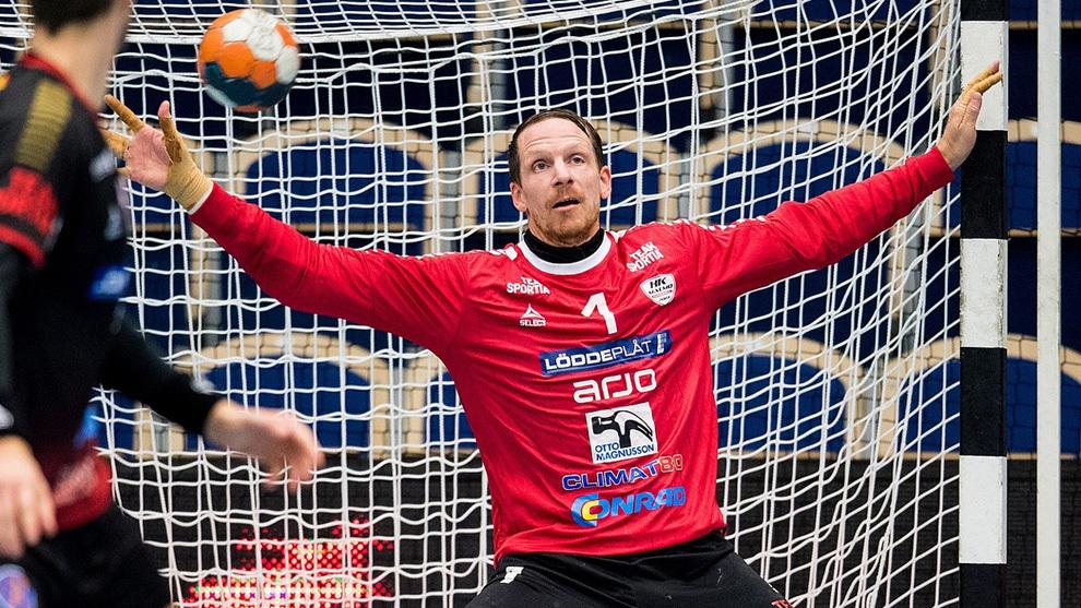 El sueco Dan Beutler durante un partido con el Malmö /