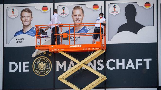 Neuer y Ter Stegen, en un cartel para el Mundial 2018.