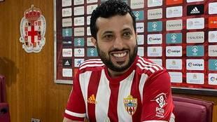 Un sonriente Turki Al-Sheikh, durante la rueda de prensa en Almería