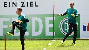 Ter Stegen y Neuer, con Alemania.