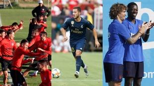 Pretemporada de Atlético, Real Madrid y Barcelona