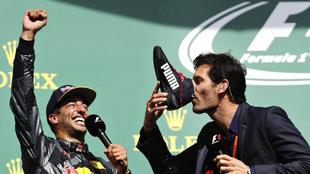 Daniel Ricciardo y Mark Webber.