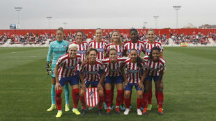 Once inicial del Atlético de Madrid en un partido en Alcalá de...