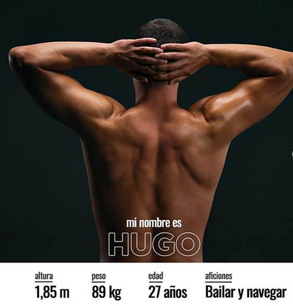Presentación del stripper Hugo Beltrán, interpretado por el...