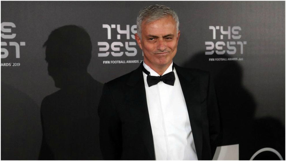 Mourinho, durante la gala de 'The Best'.