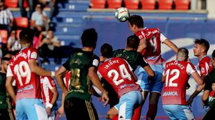 Gol del Lugo contra la Ponferradina