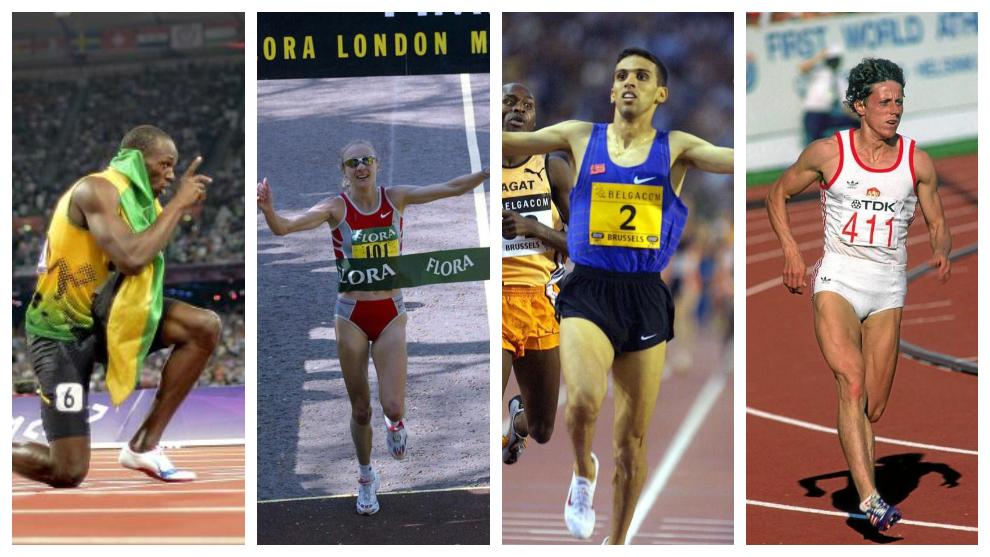 Cuatro atletas que ostentan con records del Mundo de Atletismo: Usain...