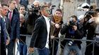 Neymar, acudiendo a la Audiencia a prestar declaración.
