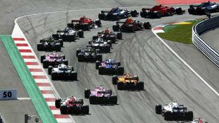 Parrilla de salida del Gran Premio de Australia.