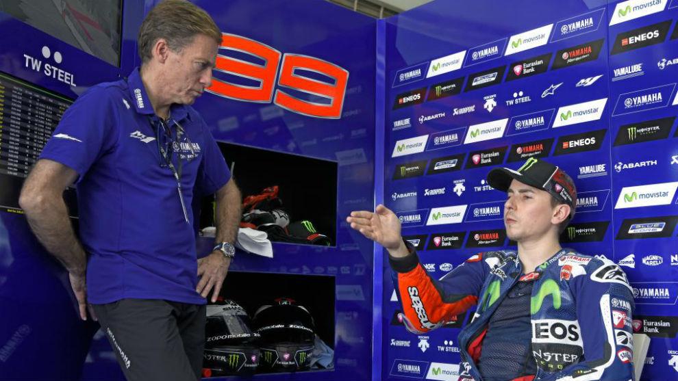 Jarvis, con Lorenzo, en Yamaha.
