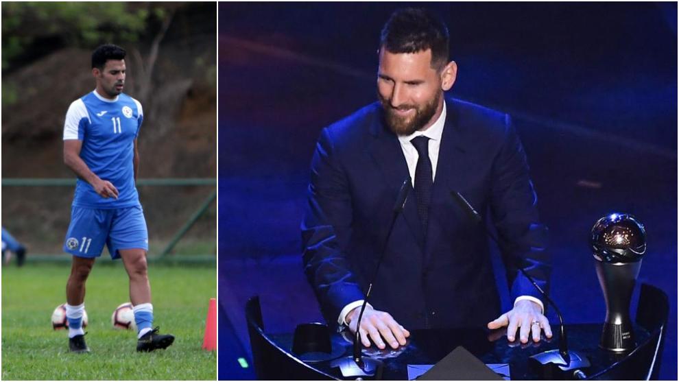 Juan Barrera y Leo Messi.