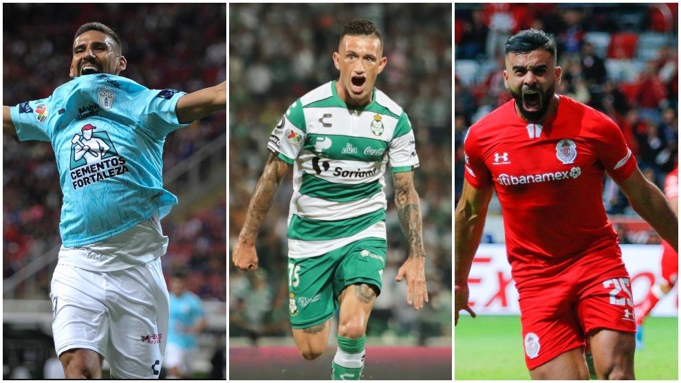 Pachuca, Santos y Toluca ganan con facilidad