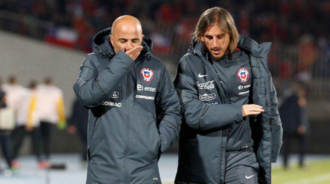 Sampaoli y Beccacece en su paso por la Selección de Chile.