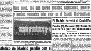 Real Madrid, 7; Castellón, 4 en el Estadio Metropolitano. Temporada...