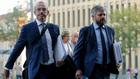 Los abogados de Neymar, a su llegada a la Ciudad de la Justicia.