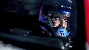 Alonso, durante los test con Toyota previos al Dakar