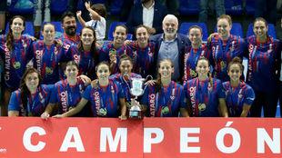 La planitlla del Mataró, ganadora de la Supercopa de España.