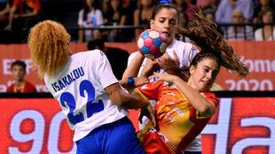 Jennifer Gutiérrez, en el partido contra Grecia del pasado jueves /